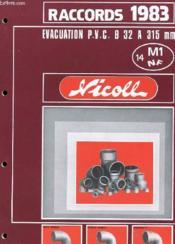 Catalogue - Raccords 1983 - Avacuation P.V.C. - Couverture - Format classique