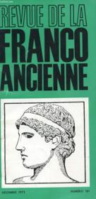 Revue De La Franco Ancienne N°181 - Couverture - Format classique