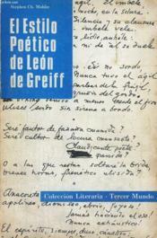 El Estilo Poetico De Leon Greiff - Couverture - Format classique