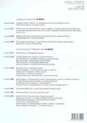 Revue Le Débat N.126 ; septembre-octobre 2003 - 4ème de couverture - Format classique