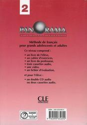 Panorama 2 professeur 2004 (édition 2004) - 4ème de couverture - Format classique