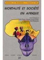 Mortalité et société en Afrique - Couverture - Format classique