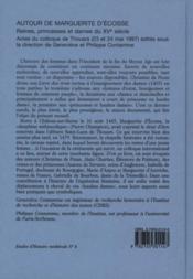 Etudes D'Histoire Medievale T Autour De Marguerite D'Ecosse Reines, Princesses Et Dames Du Xveme Siecle - 4ème de couverture - Format classique