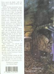 La Fille De La Voleuse De Reve ; Von Bek - 4ème de couverture - Format classique