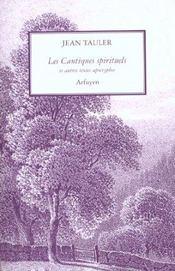 Les cantiques spirituels et autres textes apocryphes - Intérieur - Format classique