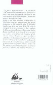 Reine Des Reves (La) - 4ème de couverture - Format classique