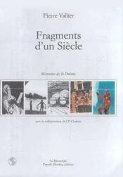 Fragments D'Un Siecle - Couverture - Format classique
