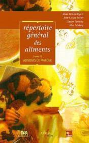 Repertoire general des aliments t.5 ; aliments de marque - Couverture - Format classique