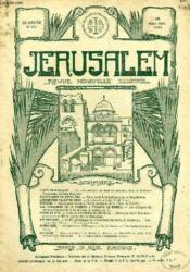 JERUSALEM, 29e ANNEE, N° 181, SEPT.-OCT. 1934, REVUE MENSUELLE ILLUSTREE - Couverture - Format classique