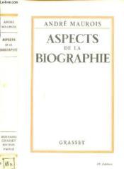 Aspect De La Biographie - Couverture - Format classique