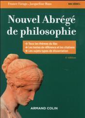 Nouvel abrégé de philosophie ; série L ; nouveaux programmes (6e édition) - Couverture - Format classique