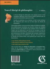 Nouvel abrégé de philosophie ; série L ; nouveaux programmes (6e édition) - 4ème de couverture - Format classique