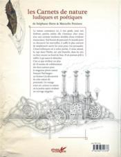 Les carnets de nature ludiques et poétiques - 4ème de couverture - Format classique