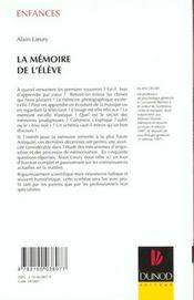La Memoire De L'Eleve En 50 Questions - 4ème de couverture - Format classique