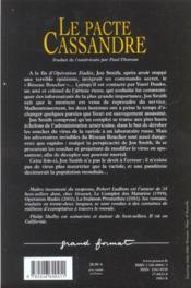 Le pacte de cassandre - Couverture - Format classique