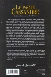Le pacte de cassandre - 4ème de couverture - Format classique