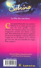 Sabrina T.11 ; La Fetes Des Sorcieres - 4ème de couverture - Format classique