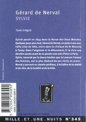 Sylvie - 4ème de couverture - Format classique
