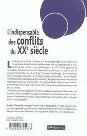 Indispensable des conflits du xxe siecle (l') 2e edition - 4ème de couverture - Format classique