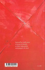 Noces vives - 4ème de couverture - Format classique