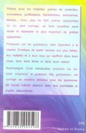 600 prières de guérison miraculeuse - 4ème de couverture - Format classique