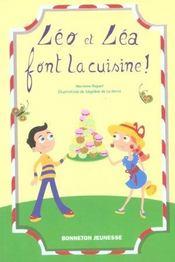 Léo et Léa font la cuisine - Intérieur - Format classique