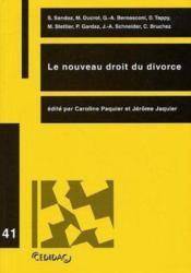 Le nouveau droit du divorce - Couverture - Format classique