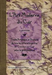 L'art moderne du cuir - Intérieur - Format classique