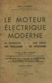 Le moteur électrique moderne - Couverture - Format classique