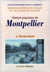 Montpellier (histoire populaire de) - Couverture - Format classique
