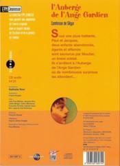 L'auberge de l'ange gardien - 4ème de couverture - Format classique