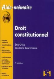 telecharger Droit constitutionnel (7e edition) livre PDF en ligne gratuit