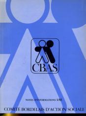 Comite Bordelais D'Action Sociale - Notes D'Informations 1/1983 - Couverture - Format classique