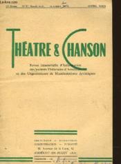 THEATRE ET CHANSON 10ème ANNEE - N°57 - AVRIL 1955 - Couverture - Format classique