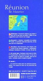 Reunion ; ile maurice - 4ème de couverture - Format classique