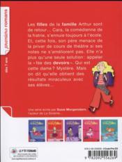La famille trop d'filles ; Cara et la fée des devoirs - 4ème de couverture - Format classique