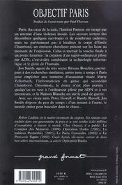 Objectif Paris - 4ème de couverture - Format classique
