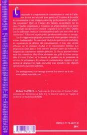 Comportement Du Consommateur Et De L'Acheteur (Le) - 4ème de couverture - Format classique