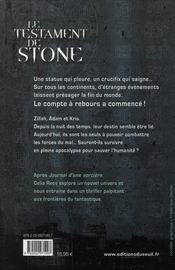 Le testament de Stone - 4ème de couverture - Format classique