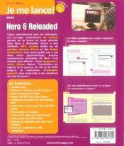 Je me lance ! avec Nero 6 reloaded - 4ème de couverture - Format classique