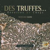 Des truffes recettes de chefs - Couverture - Format classique