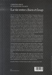 La vie entre chien et loup - 4ème de couverture - Format classique