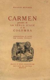 Carmen, précédée de, La vénus d'ille et de colomba - Couverture - Format classique