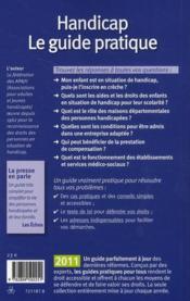 Handicap ; le guide pratique (édition 2011) - 4ème de couverture - Format classique