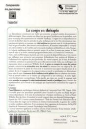 Le corps en thérapie ; du plaisir douloureux de la dépendance au plaisir orgastique de la liberté - 4ème de couverture - Format classique