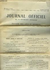 Journal Officiel de la République Française. N°85 - 108e année. Edition des Lois et Décrets - Couverture - Format classique