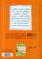 La déclaration des droits des filles - 4ème de couverture - Format classique