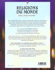 Religions Du Monde - 4ème de couverture - Format classique