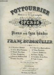 Potpourrier - Operor För Piano Och Fyra Händer - N°5 : Wilhelm Tell : Rossini. - Couverture - Format classique