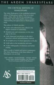 Othello (Arden) - 4ème de couverture - Format classique